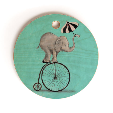 At Elephant With Umbrella Art Products Deny Designs