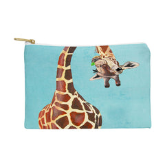 Coco de Paris Giraffe with green leaf Pouch