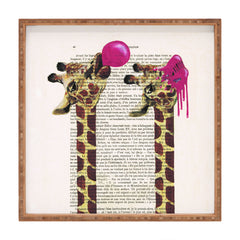 Coco de Paris Giraffes With Bubblegum Square Tray