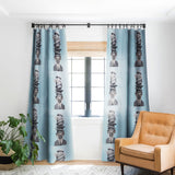 Coco de Paris Pug with stacked hats Blackout Window Curtain