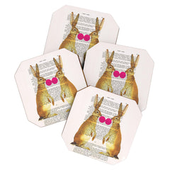 Coco de Paris Rabbits With Bubblegum 1 Coaster Set