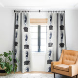 Coco de Paris Retro Ostrich Blackout Window Curtain