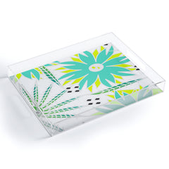 CocoDes Bright Tropical Flowers Acrylic Tray