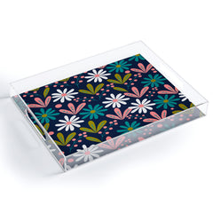 CocoDes Daisies at Midnight Acrylic Tray