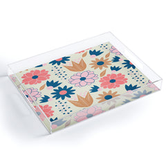 CocoDes Happy Spring Flowers Acrylic Tray