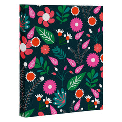 CocoDes Sweet Flowers at Midnight Art Canvas