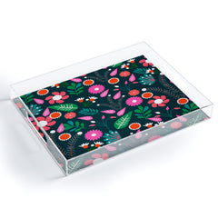 CocoDes Sweet Flowers at Midnight Acrylic Tray