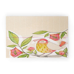 Cori Dantini Little Bird On A Flowery Branch Welcome Mat