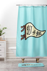 Craft Boner Get it girl center Shower Curtain And Mat