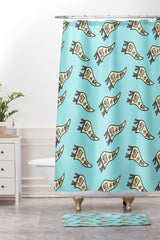 Craft Boner Get it girl pennant Shower Curtain And Mat