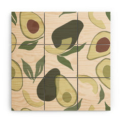 Cuss Yeah Designs Abstract Avocado Pattern Wood Wall Mural