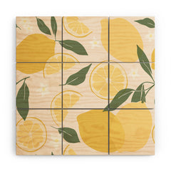 Cuss Yeah Designs Abstract Lemon Pattern Wood Wall Mural