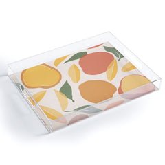 Cuss Yeah Designs Abstract Mango Pattern Acrylic Tray