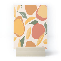Cuss Yeah Designs Abstract Mango Pattern Mini Art Print