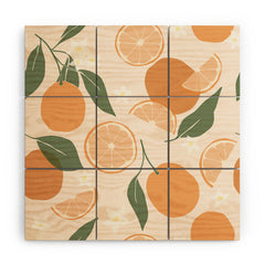 Cuss Yeah Designs Abstract Orange Pattern Wood Wall Mural