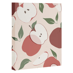 Cuss Yeah Designs Abstract Red Apple Pattern Art Canvas