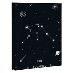 Cuss Yeah Designs Aquarius Star Constellation Art Canvas