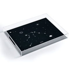 Cuss Yeah Designs Aquarius Star Constellation Acrylic Tray