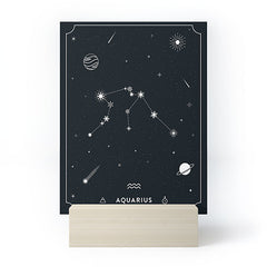 Cuss Yeah Designs Aquarius Star Constellation Mini Art Print