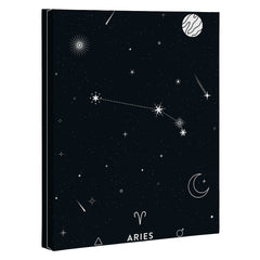Cuss Yeah Designs Aries Star Constellation Art Canvas