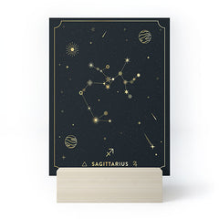 Cuss Yeah Designs Sagittarius Constellation Gold Mini Art Print