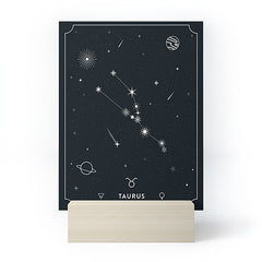 Cuss Yeah Designs Taurus Star Constellation Mini Art Print