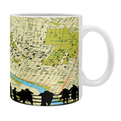 DarkIslandCity Bats Over Austin Congress Bridge Coffee Mug