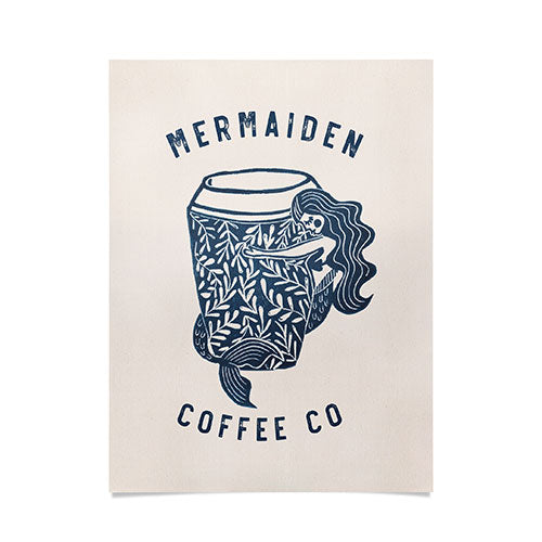 Dash and Ash Mermaiden Coffee Co Poster