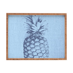Deb Haugen Linen Pineapple Rectangular Tray