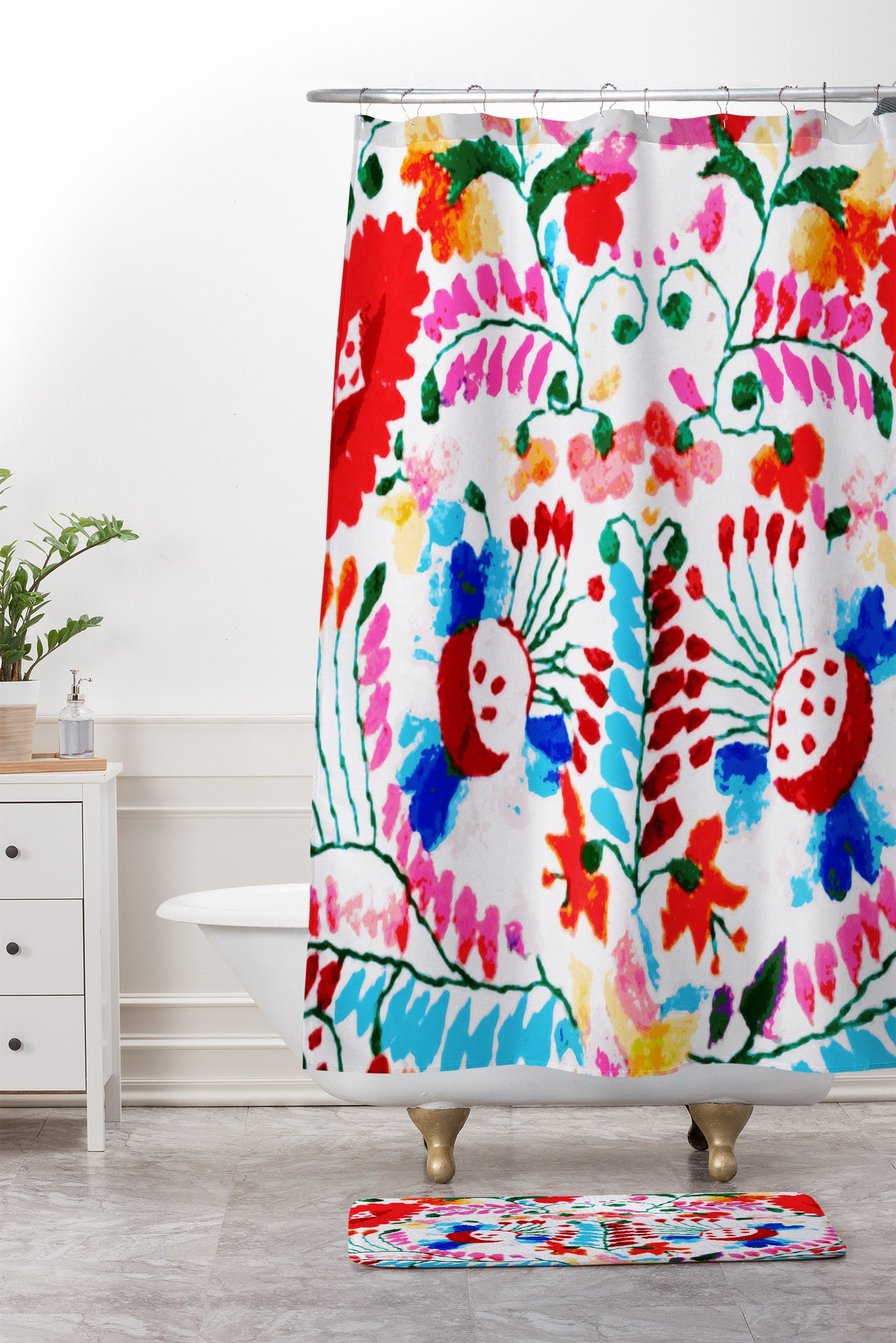 Mexican Surf Trip Shower Curtain And Mat Deb Haugen