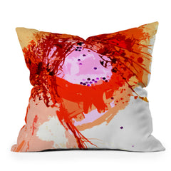 Deb Haugen Organic Orange Throw Pillow