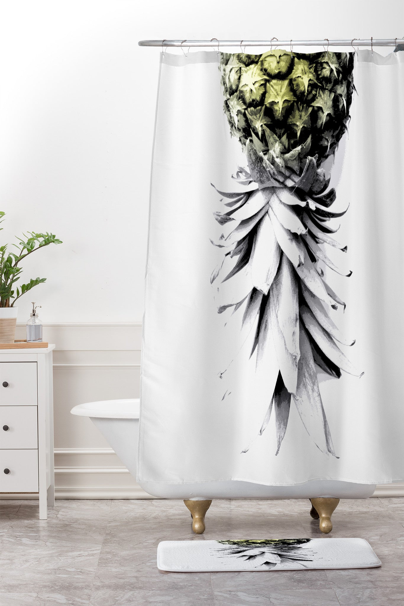 Deb Haugen Pineapple 1 Shower Curtain And Mat