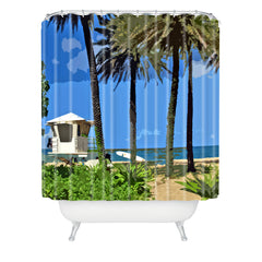 Deb Haugen Sunset Beach Shower Curtain
