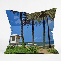 Deb Haugen Sunset Beach Throw Pillow