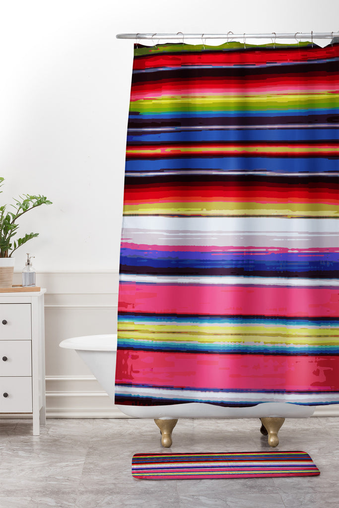 Deb Haugen Surf Serape Shower Curtain And Mat Deny