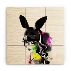 Deniz Ercelebi Bunny gone Wood Wall Mural