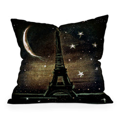 Deniz Ercelebi Paris Midnight Throw Pillow