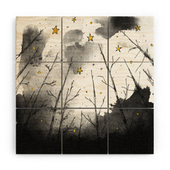 Deniz Ercelebi Woods And Stars Wood Wall Mural