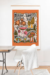 Doodle By Meg Mushrooms of Tennessee Art Print And Hanger