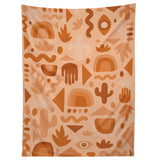 Doodle By Meg Orange Cutout Print Tapestry
