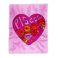 Doodle By Meg Pisces Valentine Throw Blanket