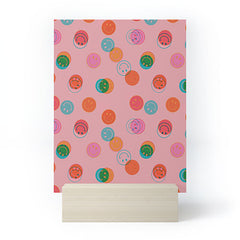 Doodle By Meg Smiley Face Print in Pink Mini Art Print