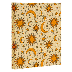 Doodle By Meg Vintage Sun and Star Print Art Canvas