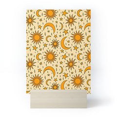 Doodle By Meg Vintage Sun and Star Print Mini Art Print