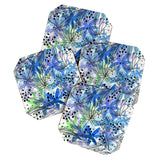 Elena Blanco Blue and mint floral Coaster Set