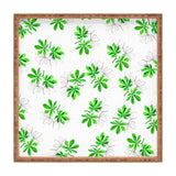 Elena Blanco Green summer leaves Square Tray