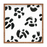 Elena Blanco Minimalist ink flowers Square Tray