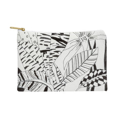 Elena Blanco Patterned leaves Pouch