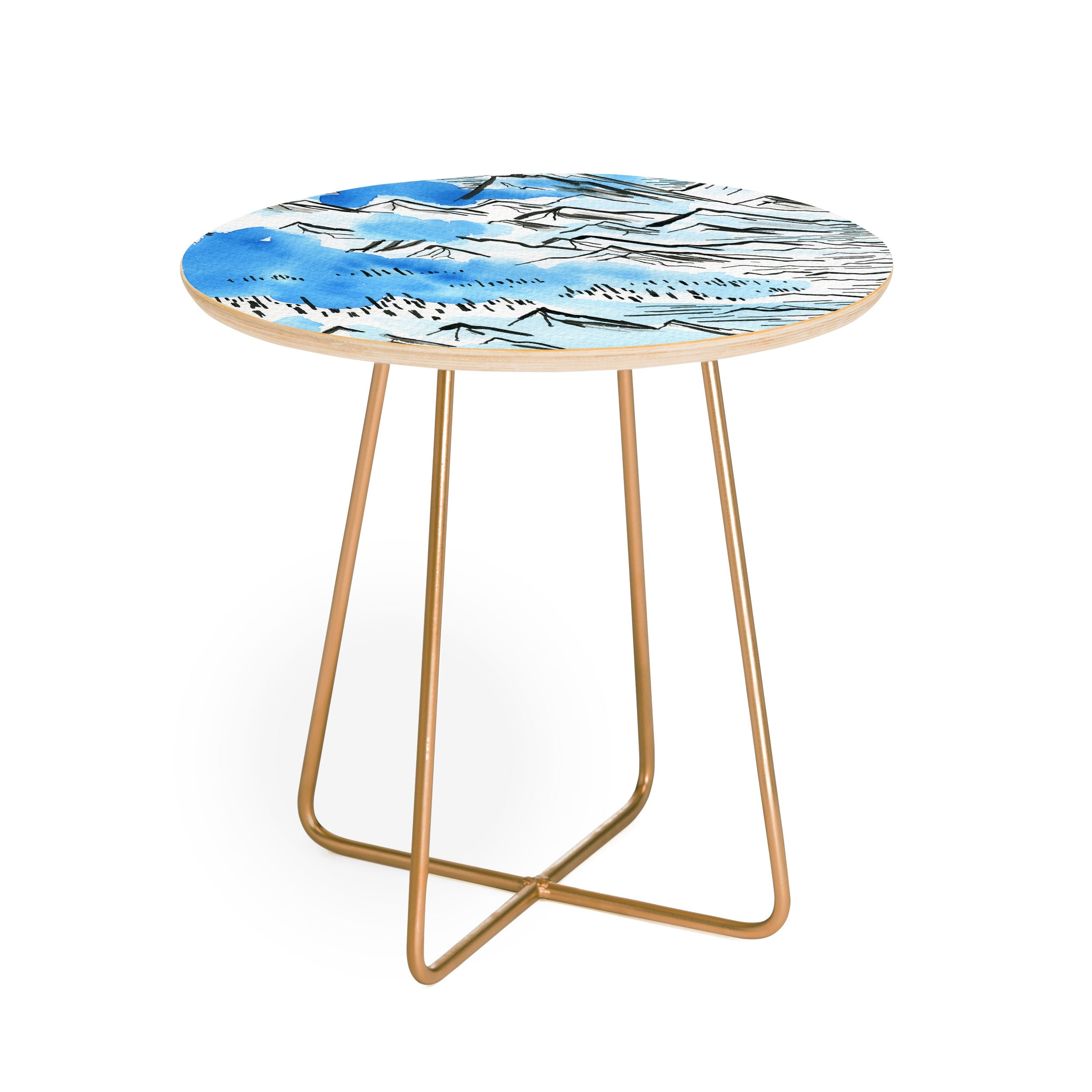 Elena Blanco Pyrenees Round Side Table