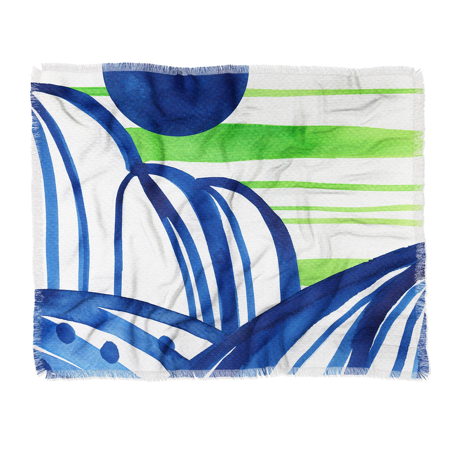 Elena Blanco Summer landscape Throw Blanket